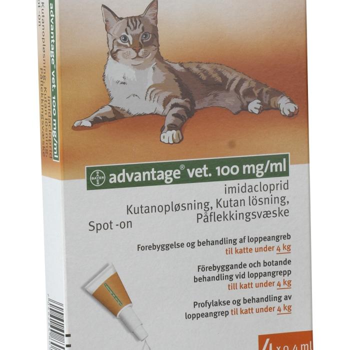 Advantage kat 0,4 ml op til 4 kg